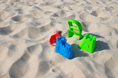 Toys in the sand Royalty Free Stock Image