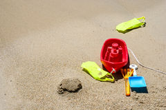 Toys in the sand Stock Photos