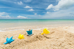 Toys in the sand Royalty Free Stock Photography