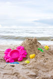 Toys and sand. Stock Image