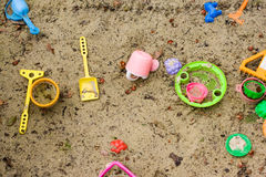 Toys in a sandbox Stock Photography