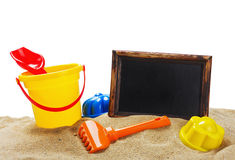 Toys for sandbox isolated Stock Images