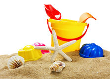 Toys for sandbox isolated on white. Background Royalty Free Stock Image