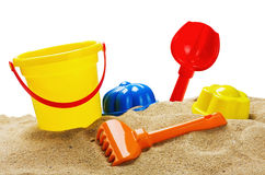 Toys for sandbox Royalty Free Stock Images
