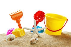Toys for sandbox isolated. On white background Royalty Free Stock Photography