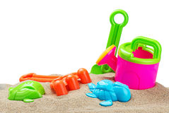 Toys for sandbox isolated Stock Photo