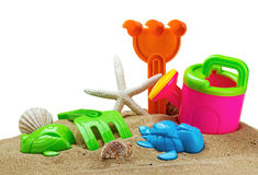 Toys for sandbox isolated Royalty Free Stock Photo