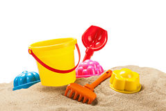 Toys for sandbox isolated on white Stock Images