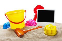 Toys for sandbox isolated Stock Image
