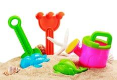 Toys for sandbox isolated on white Royalty Free Stock Photo