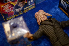 Figurins toys. Toys at the SCI-FI 2013, Game & Film Royalty Free Stock Image