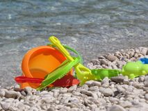 Toys on the sea. A detail of some tot on the sea Royalty Free Stock Photo