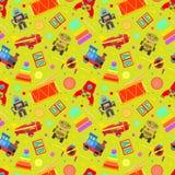 Toys seamless pattern Royalty Free Stock Photo