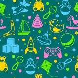 Toys seamless pattern Stock Image