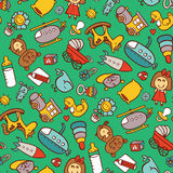Toys seamless pattern. Stock Image