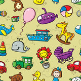 Toys seamless pattern. Royalty Free Stock Image