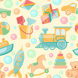 Toys seamless pattern Stock Images