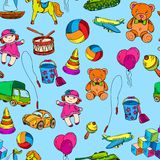 Toys seamless pattern Royalty Free Stock Images