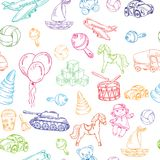 Toys seamless pattern Royalty Free Stock Image