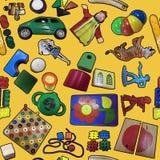 Toys seamless wallpaper Stock Photos