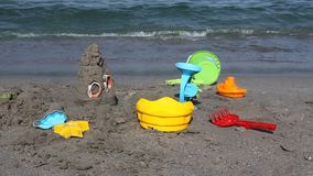 Toys on the seashore Stock Image