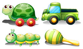 Toys set in green Royalty Free Stock Images
