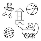 Toys, set Royalty Free Stock Images