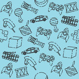 Toys set pattern Stock Photography