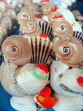 Toys of Shells. Many toys of chicken,which are made up of many shells Royalty Free Stock Image