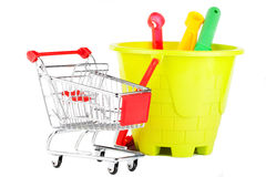 Toys with the shopping cart Stock Image