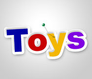 Toys Sign Shows Children Display And Store Royalty Free Stock Image