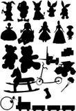 Toys silhouette vector Royalty Free Stock Photos