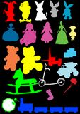 Toys silhouette vector Stock Images
