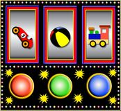 Toys slot machine Stock Images