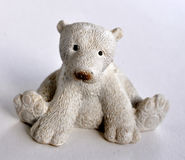 Toys, small polar bear Royalty Free Stock Images