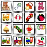 Toys stamps vector illustration