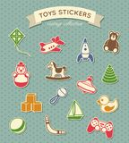 Toys stickers vintage collection Stock Photo