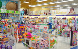 Toys store. Toys R Us store selection in Toronto, Canada Stock Photos