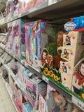 Toys in supermarket Stock Photos