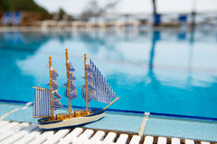 Toys at swimming pool Stock Image