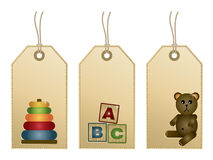 Toys tags Stock Images