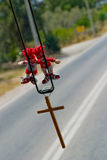 Toys talisman. In car. Photo is made in Greece royalty free stock images