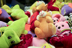 Toys. Teddy bear and other toys Stock Photo