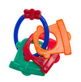 Toys for teething, colorful Royalty Free Stock Images