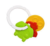 Toys for teething, colorful details Royalty Free Stock Images
