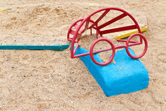 Toys to play with sand. Carcass in the shape of eyeglasses Royalty Free Stock Photo