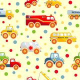 Toys transport seamless pattern Stock Image