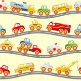 Toys transport seamless pattern Royalty Free Stock Images