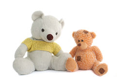 Toys (Two teddy bears) Royalty Free Stock Image