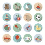 Toys Vector Flat Icons Stock Photos